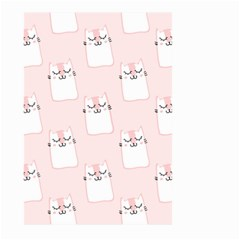 Pattern Cat Pink Cute Sweet Fur Large Garden Flag (two Sides) by Amaryn4rt