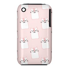 Pattern Cat Pink Cute Sweet Fur Iphone 3s/3gs by Amaryn4rt