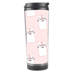 Pattern Cat Pink Cute Sweet Fur Travel Tumbler by Amaryn4rt