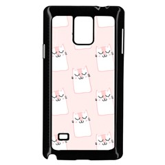 Pattern Cat Pink Cute Sweet Fur Samsung Galaxy Note 4 Case (black) by Amaryn4rt