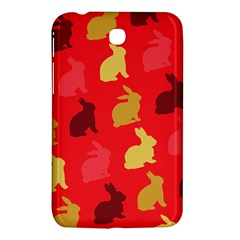 Hare Easter Pattern Animals Samsung Galaxy Tab 3 (7 ) P3200 Hardshell Case  by Amaryn4rt