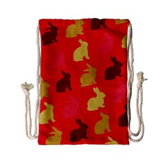 Hare Easter Pattern Animals Drawstring Bag (small) by Amaryn4rt