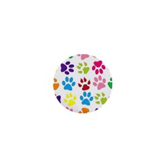 Paw Print Paw Prints Background 1  Mini Magnets