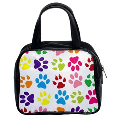 Paw Print Paw Prints Background Classic Handbags (2 Sides)
