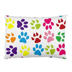 Paw Print Paw Prints Background Pillow Case (two Sides)