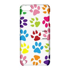 Paw Print Paw Prints Background Apple Ipod Touch 5 Hardshell Case With Stand by Amaryn4rt