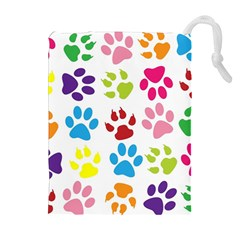 Paw Print Paw Prints Background Drawstring Pouches (extra Large)
