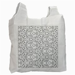 Pattern Silly Coloring Page Cool Recycle Bag (two Side)  by Amaryn4rt
