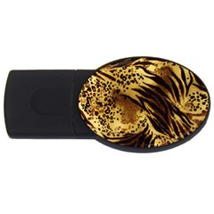 Pattern Tiger Stripes Print Animal Usb Flash Drive Oval (4 Gb) by Amaryn4rt