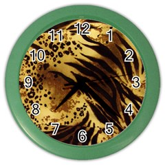 Pattern Tiger Stripes Print Animal Color Wall Clocks by Amaryn4rt