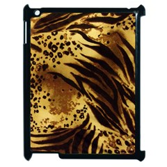 Pattern Tiger Stripes Print Animal Apple Ipad 2 Case (black) by Amaryn4rt