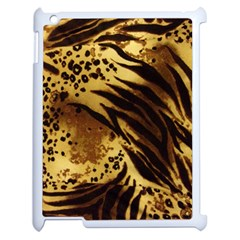 Pattern Tiger Stripes Print Animal Apple Ipad 2 Case (white) by Amaryn4rt