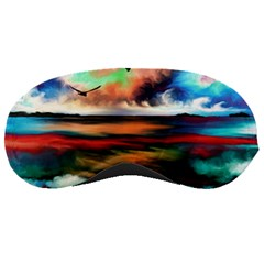 Ocean Waves Birds Colorful Sea Sleeping Masks by Amaryn4rt