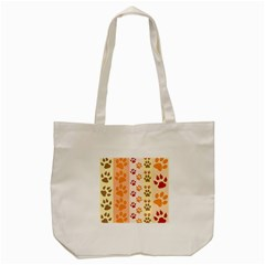 Paw Print Paw Prints Fun Background Tote Bag (cream)