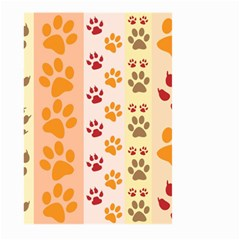 Paw Print Paw Prints Fun Background Large Garden Flag (two Sides)