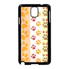 Paw Print Paw Prints Fun Background Samsung Galaxy Note 3 Neo Hardshell Case (black) by Amaryn4rt
