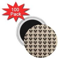 Puppy Dog Pug Pup Graphic 1 75  Magnets (100 Pack)