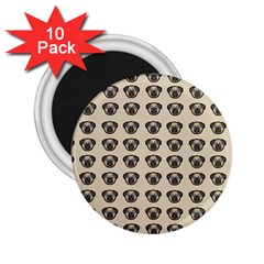 Puppy Dog Pug Pup Graphic 2 25  Magnets (10 Pack)
