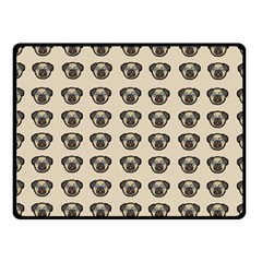 Puppy Dog Pug Pup Graphic Fleece Blanket (small) by Amaryn4rt