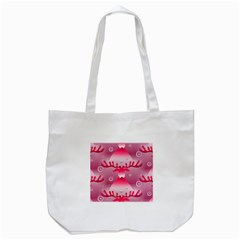 Seamless Repeat Repeating Pattern Tote Bag (white) by Amaryn4rt