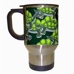 Seamless Tile Background Abstract Turtle Turtles Travel Mugs (white) by Amaryn4rt