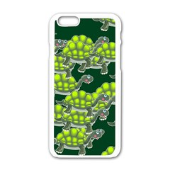 Seamless Tile Background Abstract Turtle Turtles Apple Iphone 6/6s White Enamel Case by Amaryn4rt