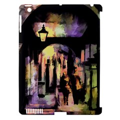 Street Colorful Abstract People Apple Ipad 3/4 Hardshell Case (compatible With Smart Cover) by Amaryn4rt