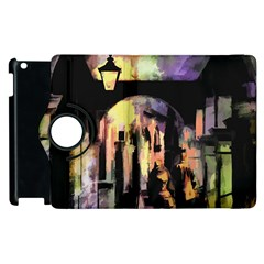 Street Colorful Abstract People Apple Ipad 3/4 Flip 360 Case by Amaryn4rt