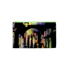Street Colorful Abstract People Cosmetic Bag (xs)
