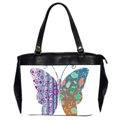 Vintage Style Floral Butterfly Office Handbags (2 Sides)  by Amaryn4rt