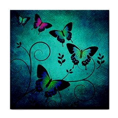 Texture Butterflies Background Tile Coasters by Amaryn4rt