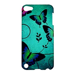 Texture Butterflies Background Apple Ipod Touch 5 Hardshell Case by Amaryn4rt