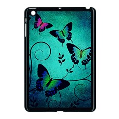 Texture Butterflies Background Apple Ipad Mini Case (black)