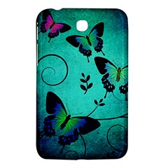 Texture Butterflies Background Samsung Galaxy Tab 3 (7 ) P3200 Hardshell Case  by Amaryn4rt