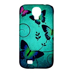 Texture Butterflies Background Samsung Galaxy S4 Classic Hardshell Case (pc+silicone)