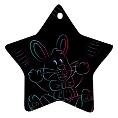 Easter Bunny Hare Rabbit Animal Ornament (star) by Amaryn4rt