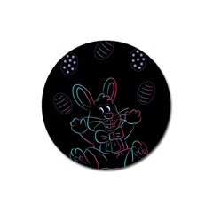 Easter Bunny Hare Rabbit Animal Magnet 3  (round) by Amaryn4rt