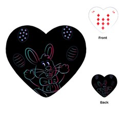Easter Bunny Hare Rabbit Animal Playing Cards (heart)  by Amaryn4rt
