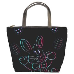 Easter Bunny Hare Rabbit Animal Bucket Bags by Amaryn4rt