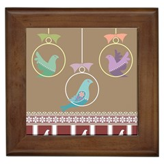 Isolated Wallpaper Bird Sweet Fowl Framed Tiles by Amaryn4rt