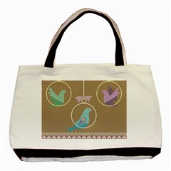 Isolated Wallpaper Bird Sweet Fowl Basic Tote Bag (two Sides)