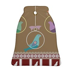 Isolated Wallpaper Bird Sweet Fowl Ornament (bell) by Amaryn4rt