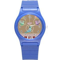 Isolated Wallpaper Bird Sweet Fowl Round Plastic Sport Watch (s) by Amaryn4rt