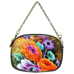 Flowers Artwork Art Digital Art Chain Purses (one Side)  by Amaryn4rt