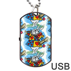 Seamless Repeating Tiling Tileable Dog Tag Usb Flash (one Side) by Amaryn4rt