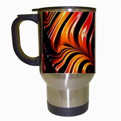 Abstract Fractal Mathematics Abstract Travel Mugs (white) by Amaryn4rt