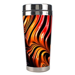 Abstract Fractal Mathematics Abstract Stainless Steel Travel Tumblers by Amaryn4rt