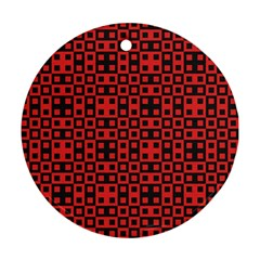 Abstract Background Red Black Ornament (round)