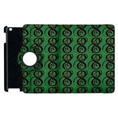 Abstract Pattern Graphic Lines Apple Ipad 3/4 Flip 360 Case by Amaryn4rt