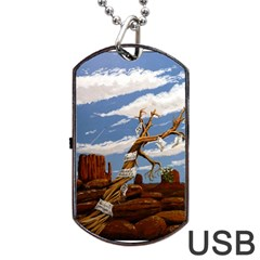 Acrylic Paint Paint Art Modern Art Dog Tag Usb Flash (one Side) by Amaryn4rt